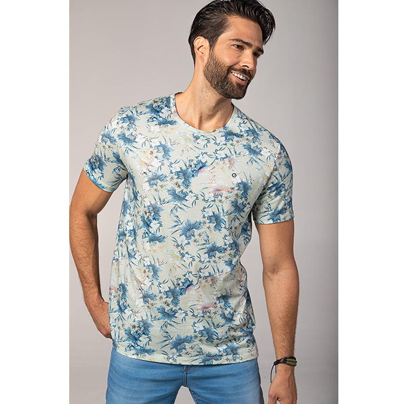 Camiseta Floral Guilherme Soul                                                                                                                                        ( Referência : 323471851 )