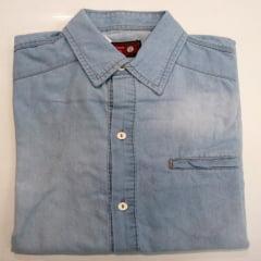 Camisa Jeans Manga Longa Bhoro